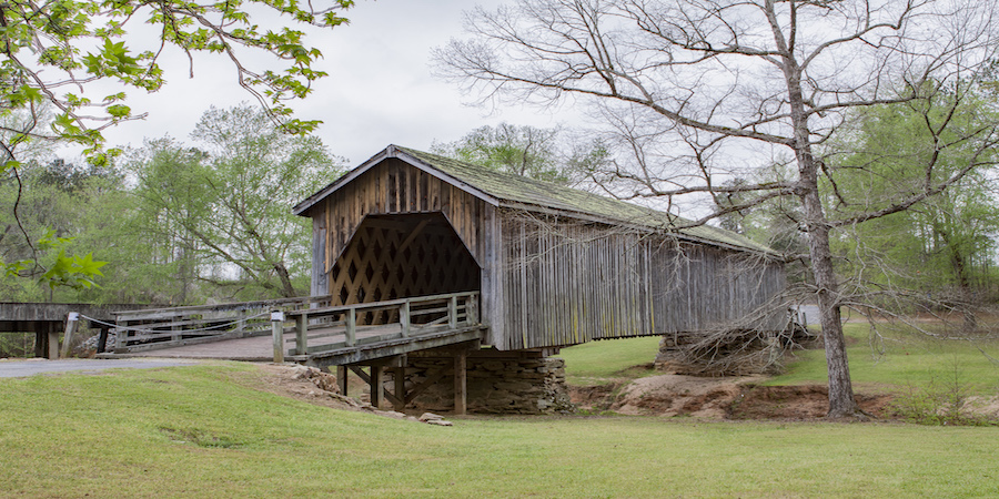 Een covered bridge in Alabama