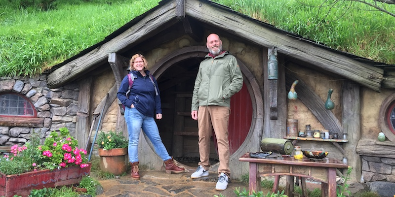 De filmset van The Hobbit en Lord of the Rings