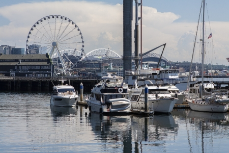 Een haventje in Downtown Seattle