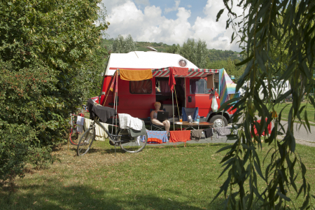 Op de camping in Krems an der Donau