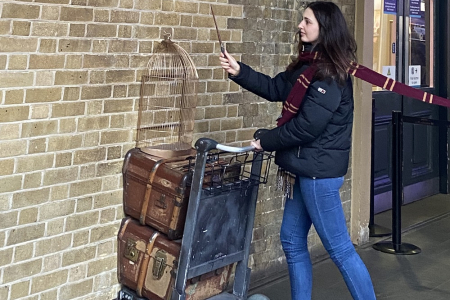 Harry Potter op Kings Cross station